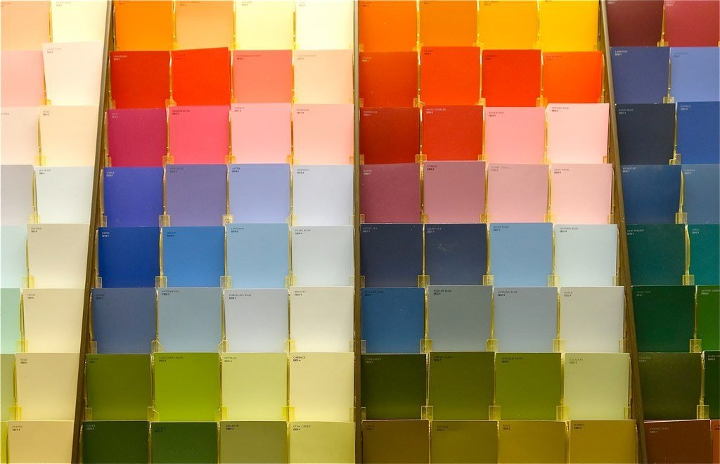 Buttonwood Blog - choosing where to put your reno dollars in an investment property - picture of paint chips