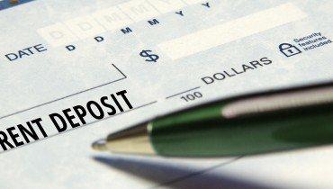 Rent Deposit Check
