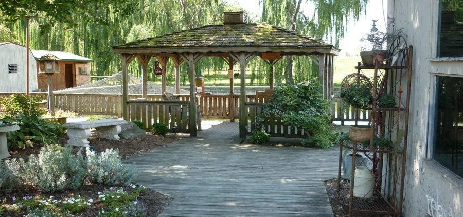 building a wooden deck